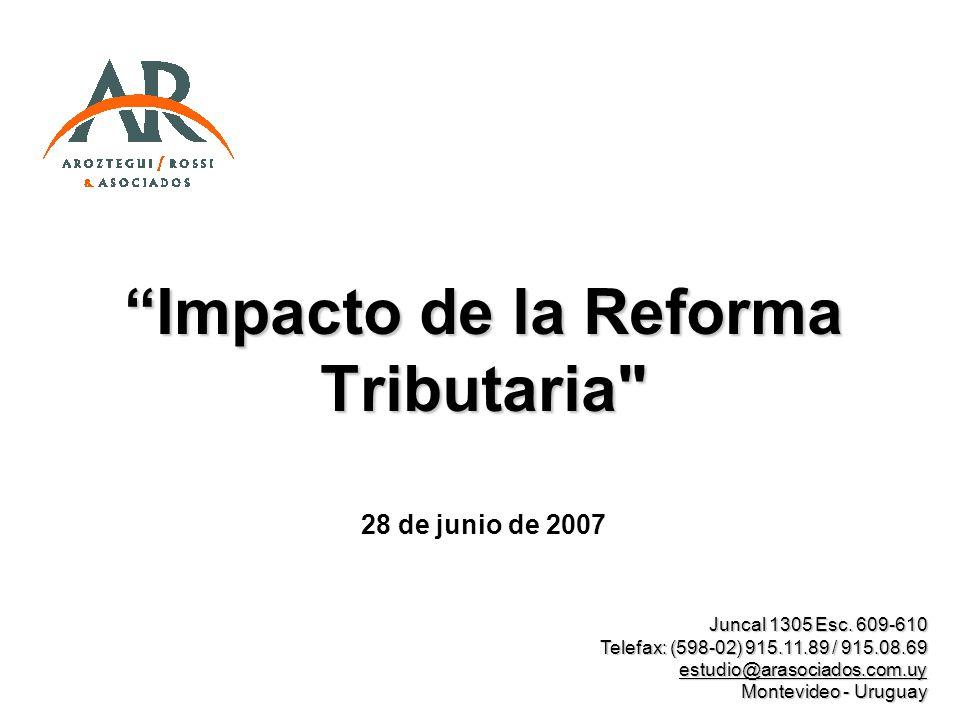 Impacto de la Reforma Tributaria
