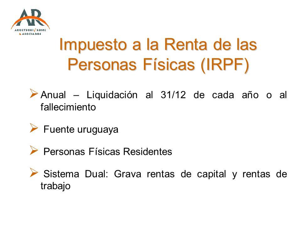 Impuesto a la Renta de las Personas Físicas (IRPF)