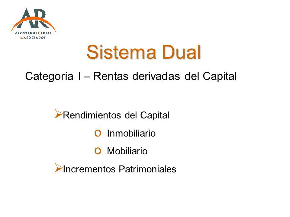 Sistema Dual Categoría I – Rentas derivadas del Capital