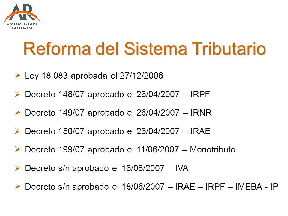Reforma del Sistema Tributario