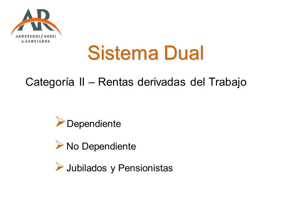 Sistema Dual Categoría II – Rentas derivadas del Trabajo Dependiente