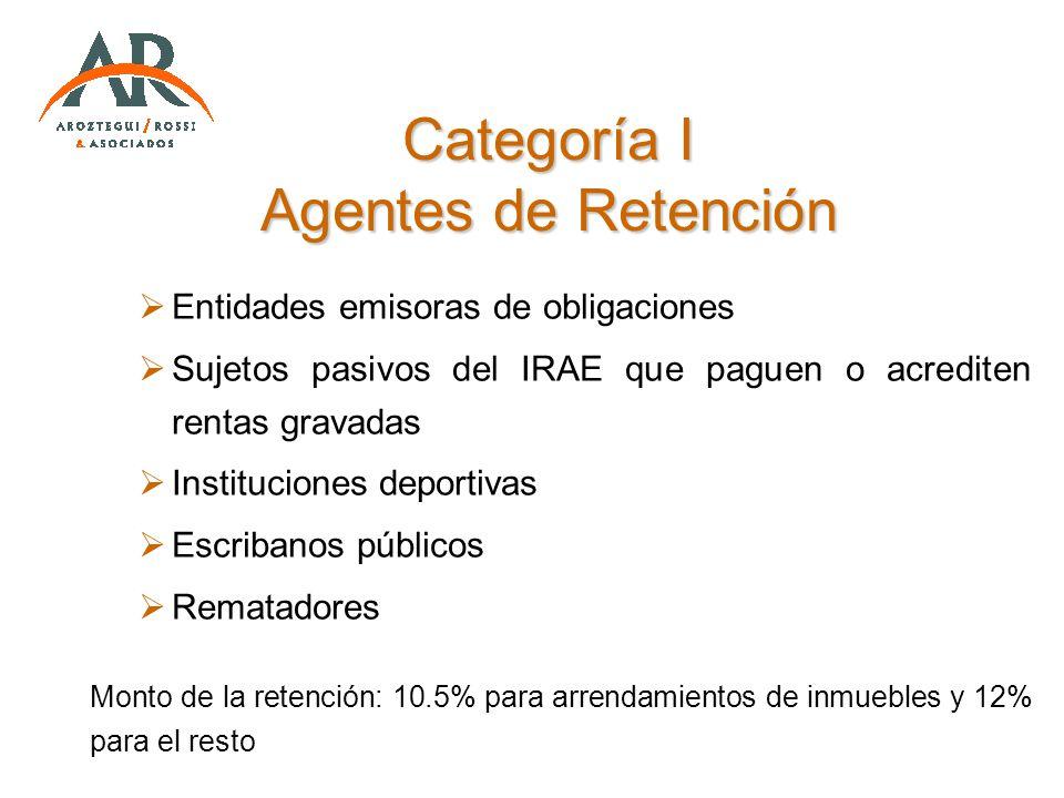 Categoría I Agentes de Retención
