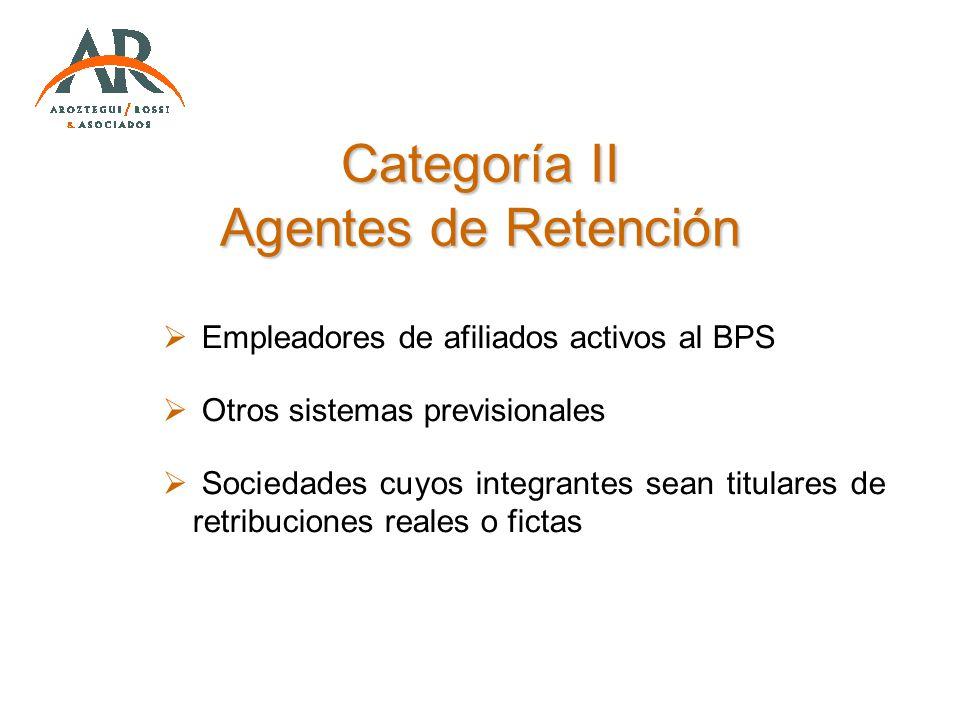 Categoría II Agentes de Retención