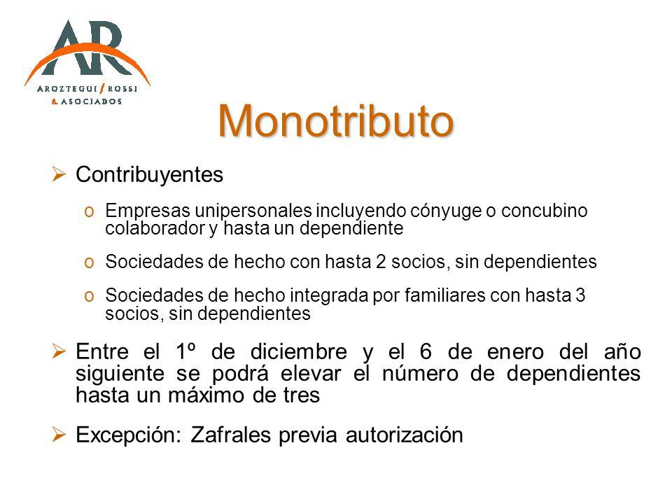Monotributo Contribuyentes