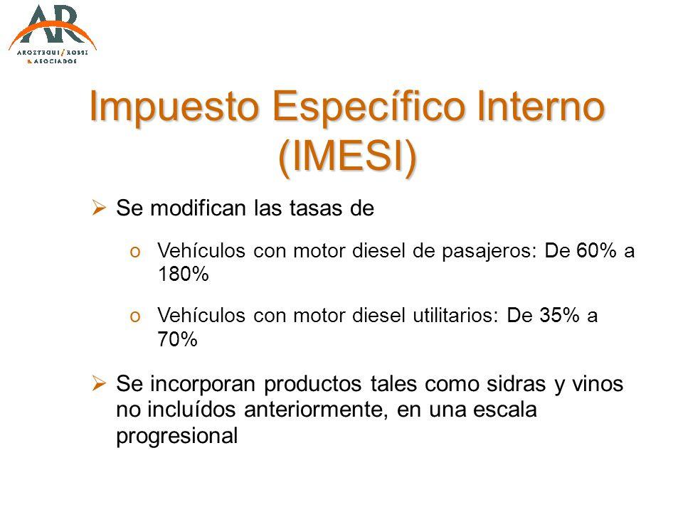 Impuesto Específico Interno (IMESI)