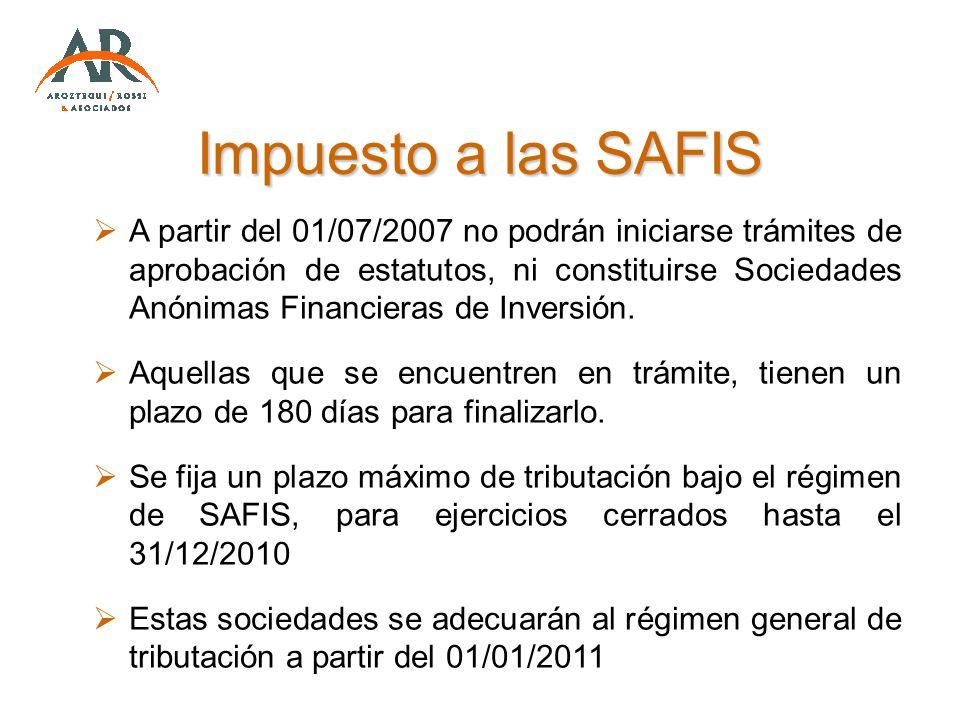 Impuesto a las SAFIS
