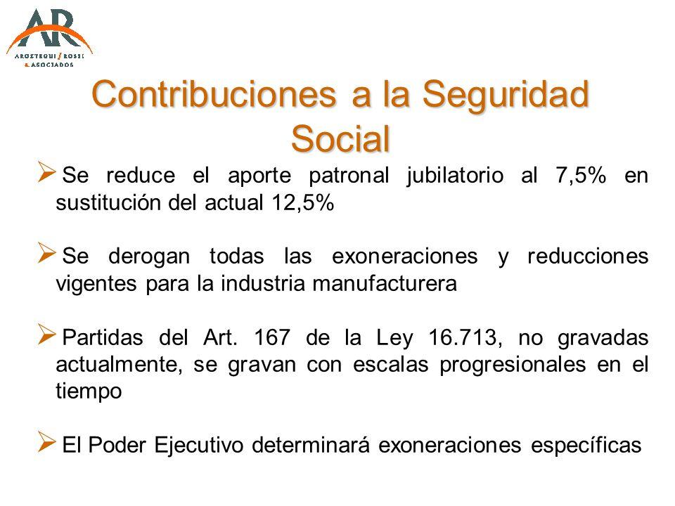 Contribuciones a la Seguridad Social