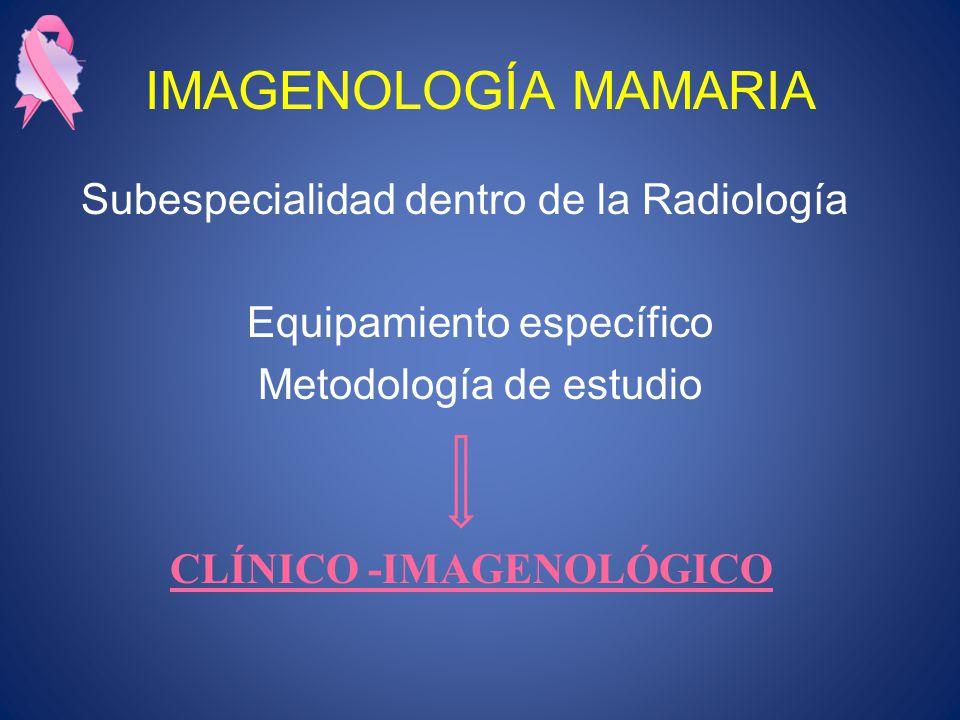 IMAGENOLOGÍA MAMARIA Subespecialidad dentro de la Radiología