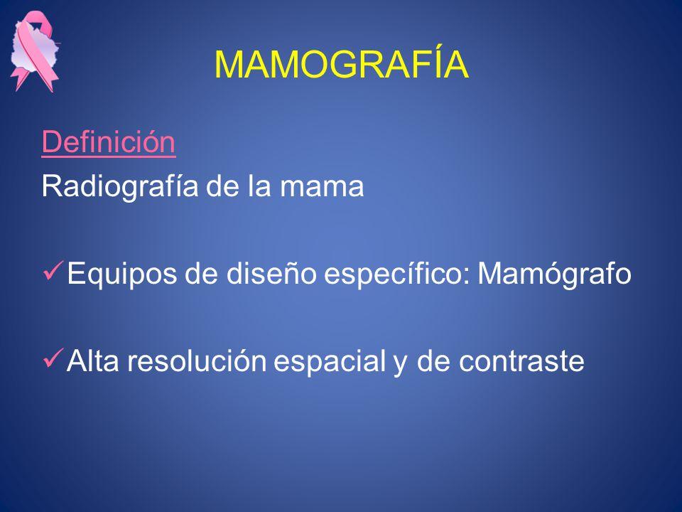 MAMOGRAFÍA Definición Radiografía de la mama
