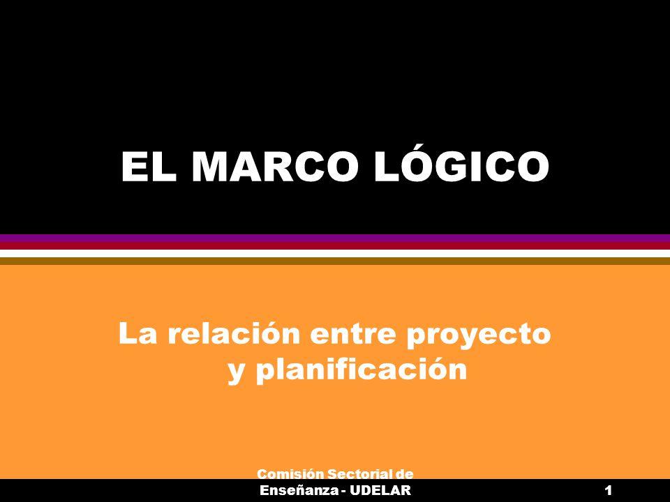 La relación entre proyecto y planificación