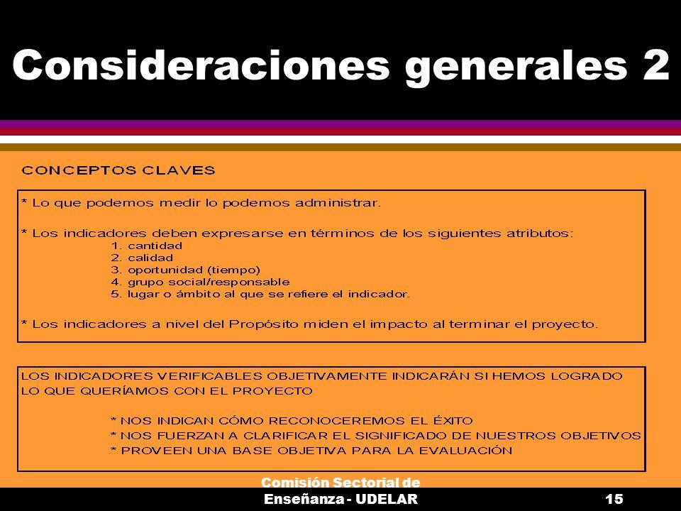 Consideraciones generales 2