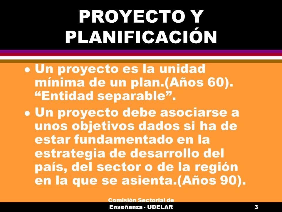 PROYECTO Y PLANIFICACIÓN