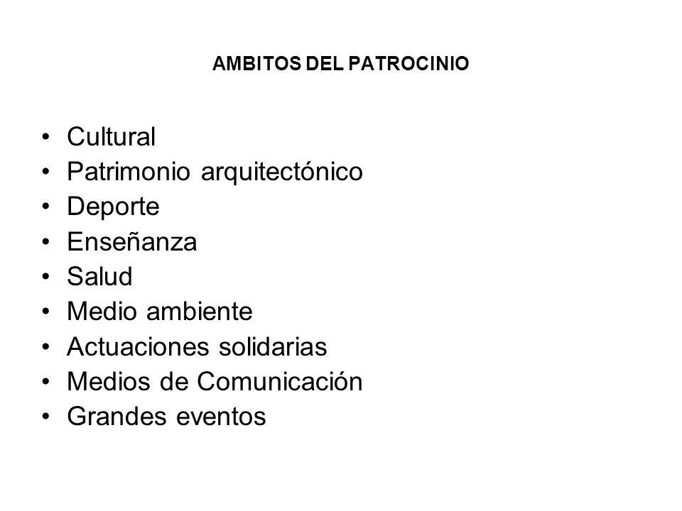AMBITOS DEL PATROCINIO