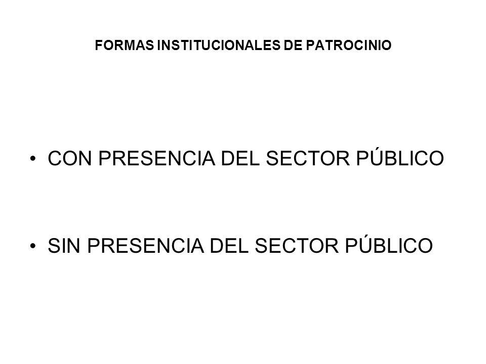 FORMAS INSTITUCIONALES DE PATROCINIO