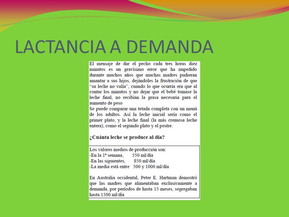 LACTANCIA A DEMANDA