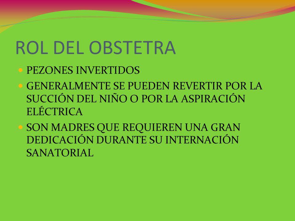 ROL DEL OBSTETRA PEZONES INVERTIDOS