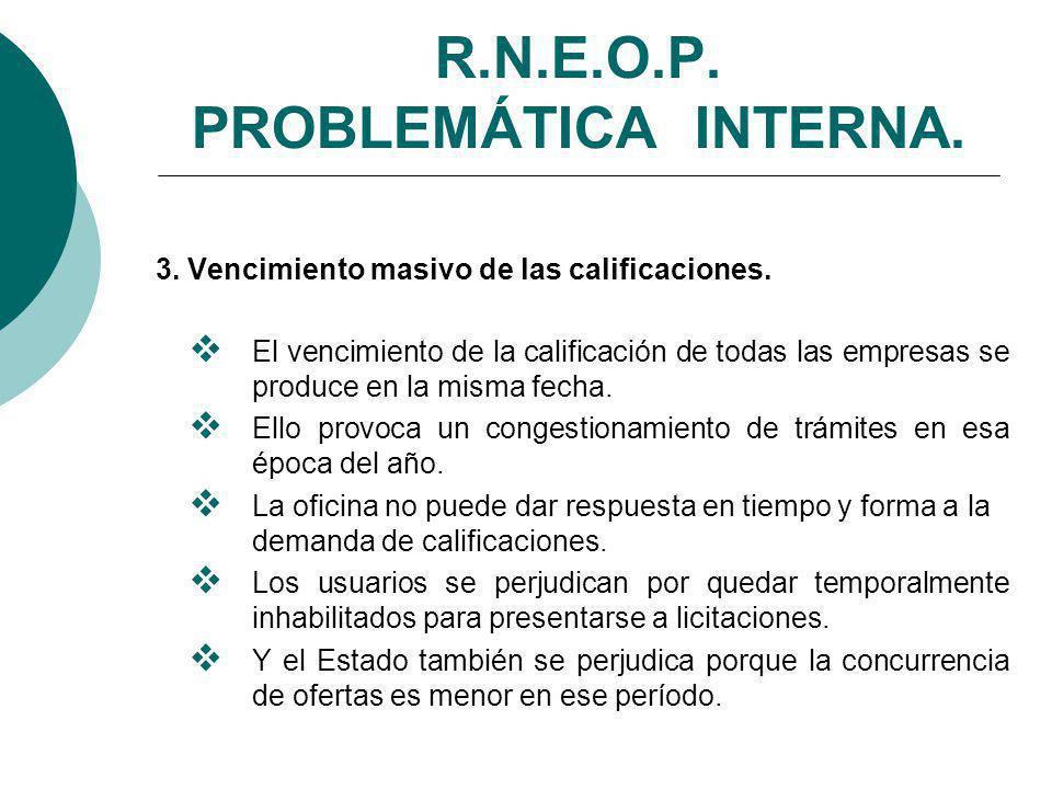 R.N.E.O.P. PROBLEMÁTICA INTERNA.