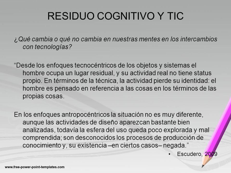 RESIDUO COGNITIVO Y TIC