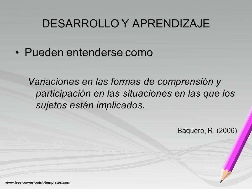 DESARROLLO Y APRENDIZAJE