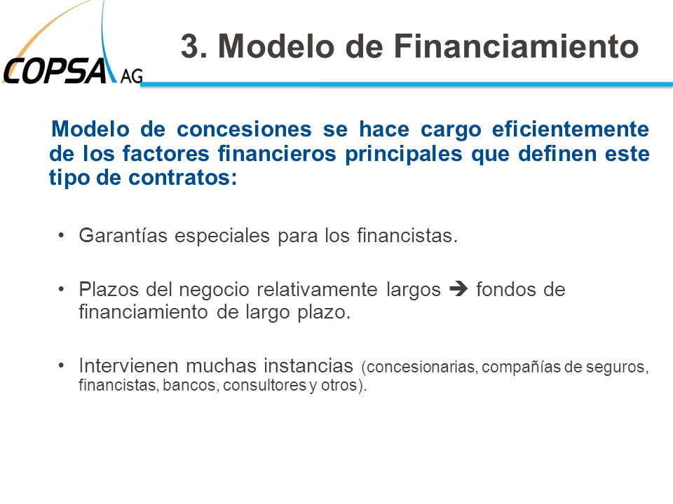 3. Modelo de Financiamiento