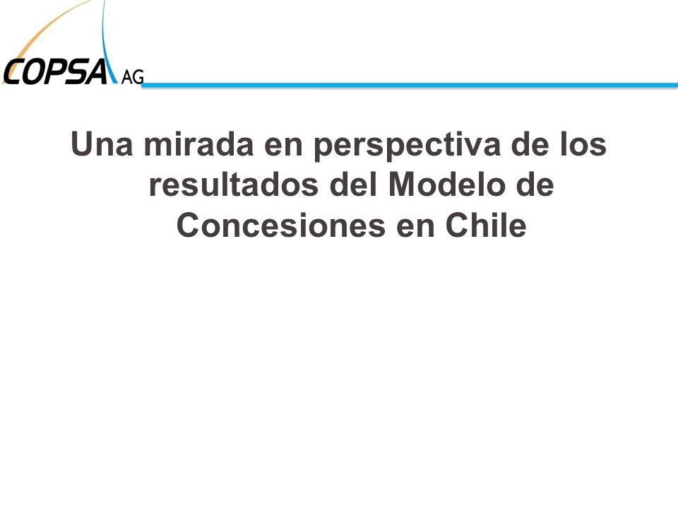 Una mirada en perspectiva de los resultados del Modelo de Concesiones en Chile