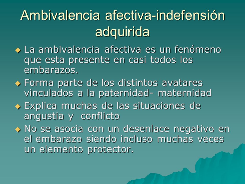 Ambivalencia afectiva-indefensión adquirida