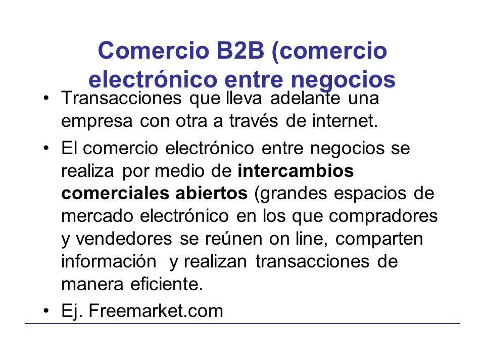 Comercio B2B (comercio electrónico entre negocios
