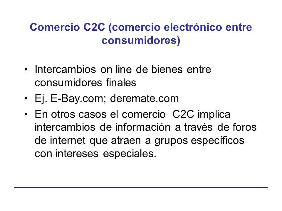 Comercio C2C (comercio electrónico entre consumidores)