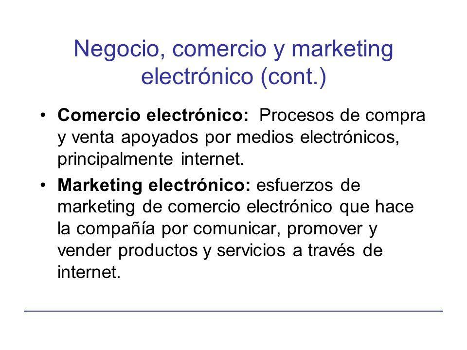 Negocio, comercio y marketing electrónico (cont.)