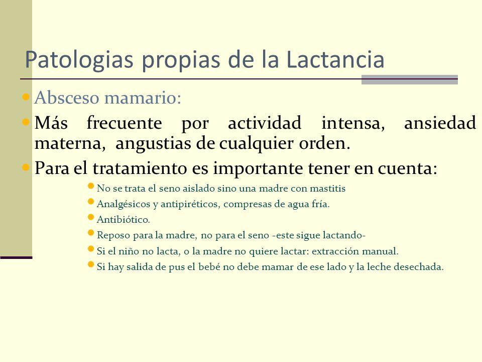 Patologias propias de la Lactancia