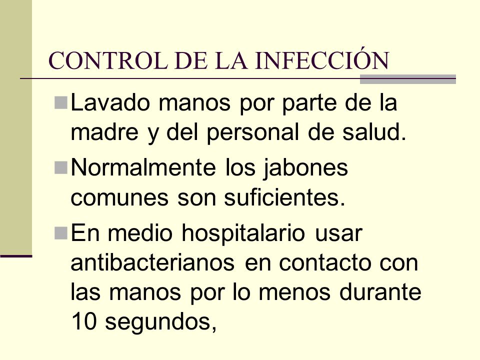CONTROL DE LA INFECCIÓN