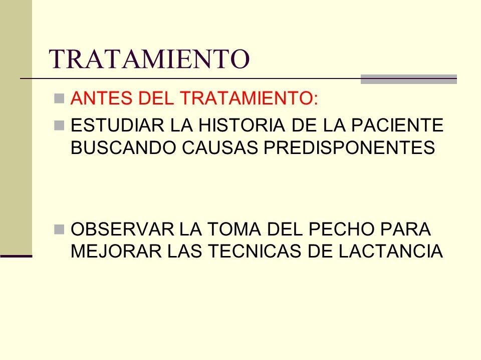 TRATAMIENTO ANTES DEL TRATAMIENTO: