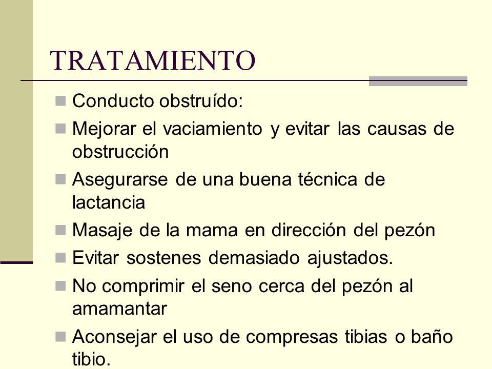 TRATAMIENTO Conducto obstruído: