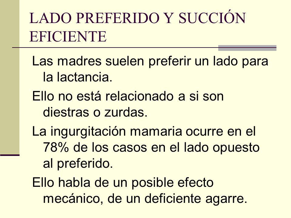 LADO PREFERIDO Y SUCCIÓN EFICIENTE