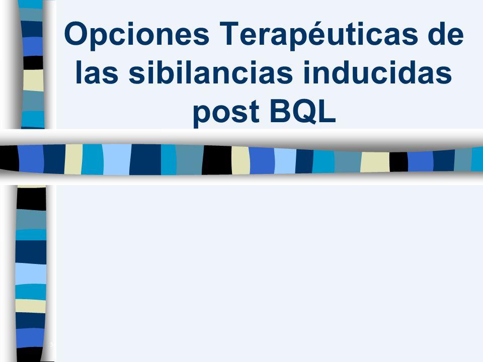 Opciones Terapéuticas de las sibilancias inducidas post BQL