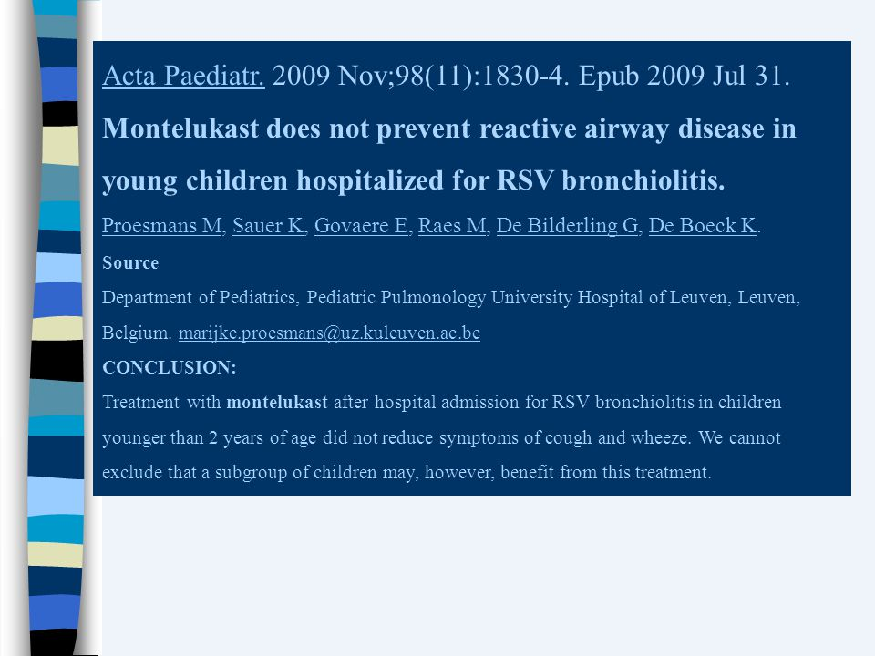 Acta Paediatr. 2009 Nov;98(11):1830-4. Epub 2009 Jul 31.
