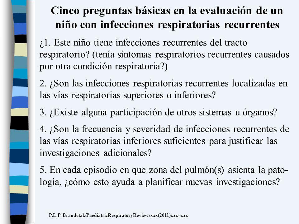 Cinco preguntas básicas en la evaluación de un niño con infecciones respiratorias recurrentes