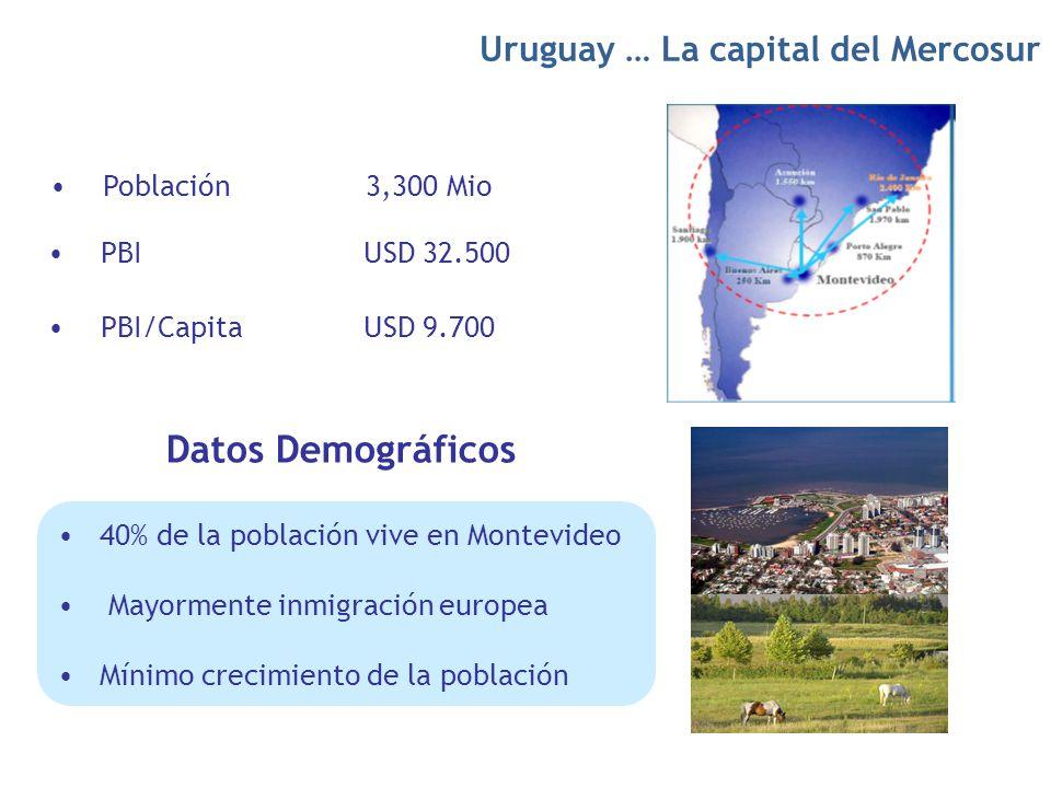 Datos Demográficos Uruguay … La capital del Mercosur