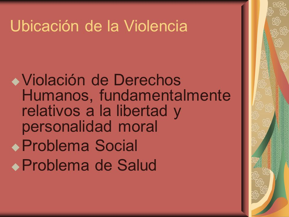 Ubicación de la Violencia