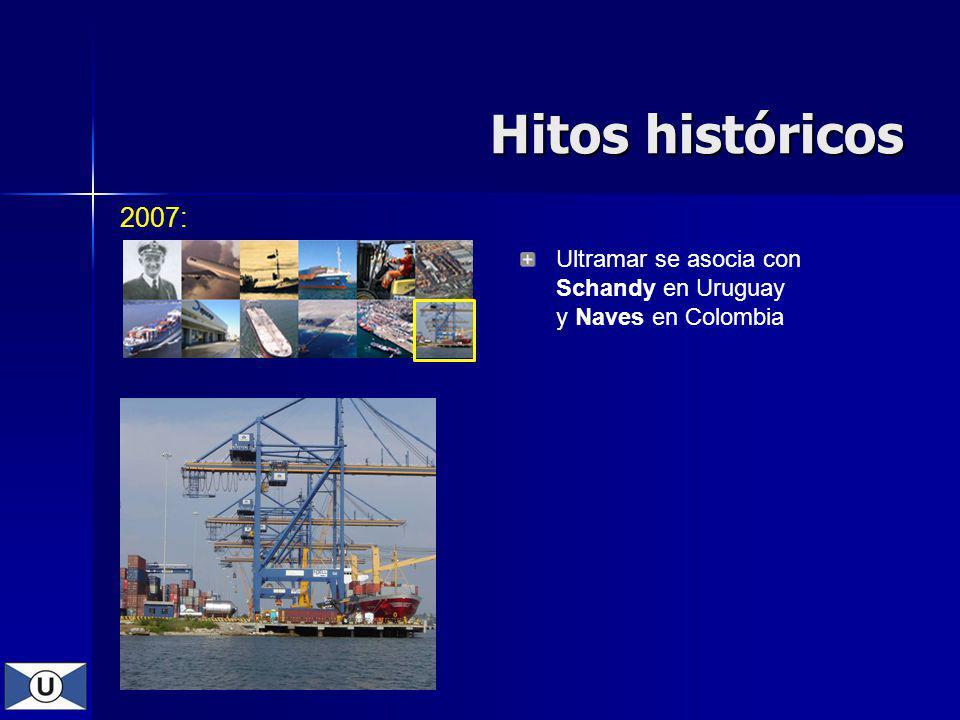 Hitos históricos 2007: Ultramar se asocia con Schandy en Uruguay y Naves en Colombia