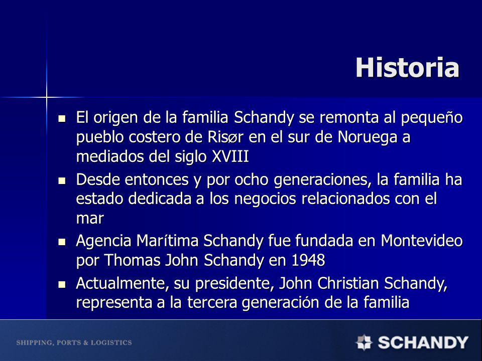 Historia El origen de la familia Schandy se remonta al pequeño pueblo costero de RisØr en el sur de Noruega a mediados del siglo XVIII.