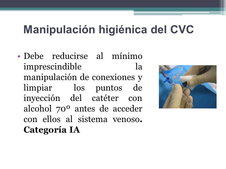Manipulación higiénica del CVC