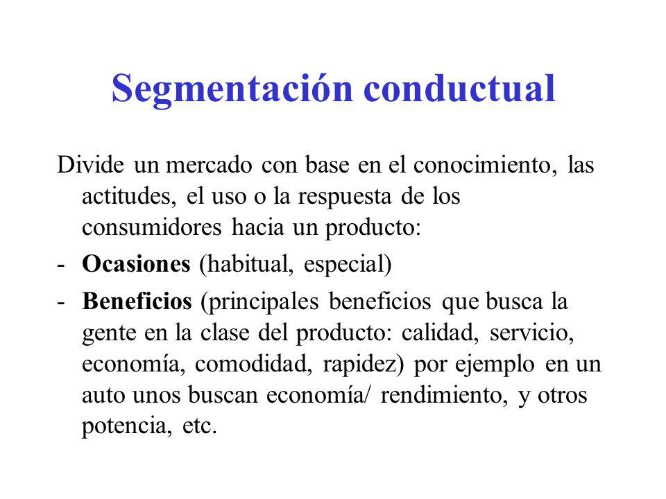 Segmentación conductual