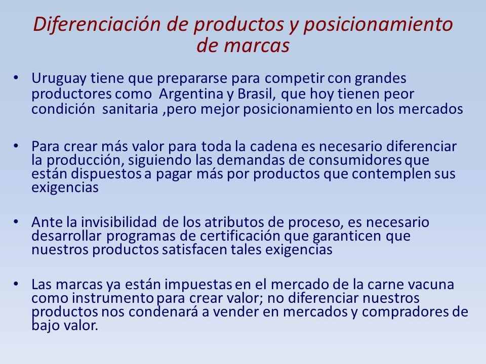 Diferenciación de productos y posicionamiento de marcas