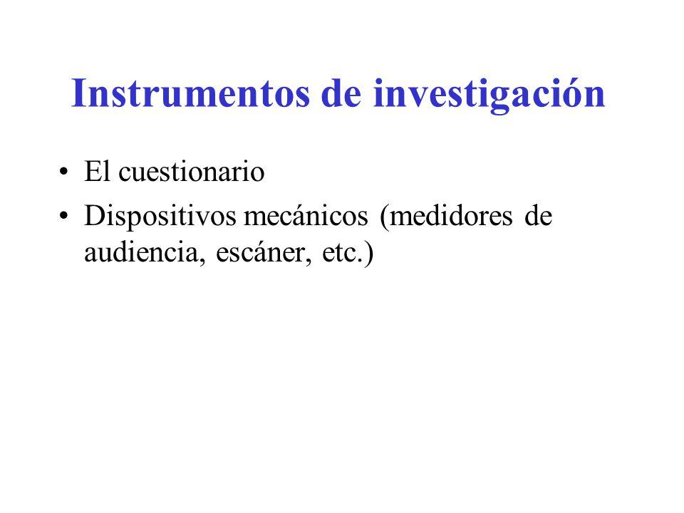 Instrumentos de investigación
