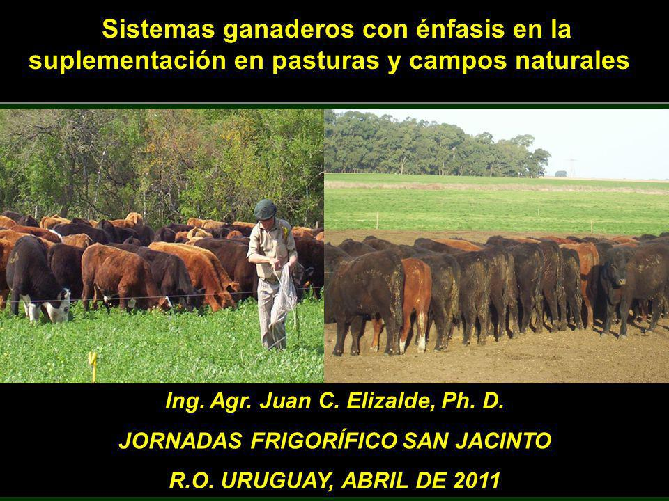 Ing. Agr. Juan C. Elizalde, Ph. D. JORNADAS FRIGORÍFICO SAN JACINTO