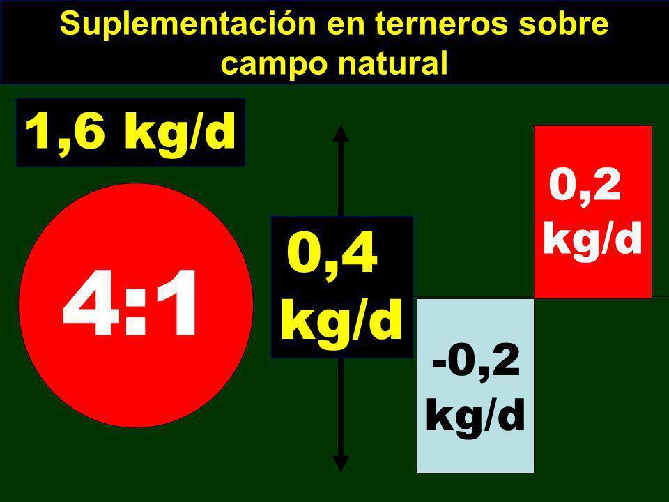 Suplementación en terneros sobre campo natural
