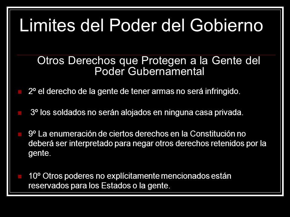 Limites del Poder del Gobierno