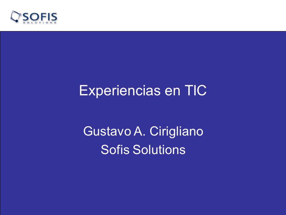 Gustavo A. Cirigliano Sofis Solutions