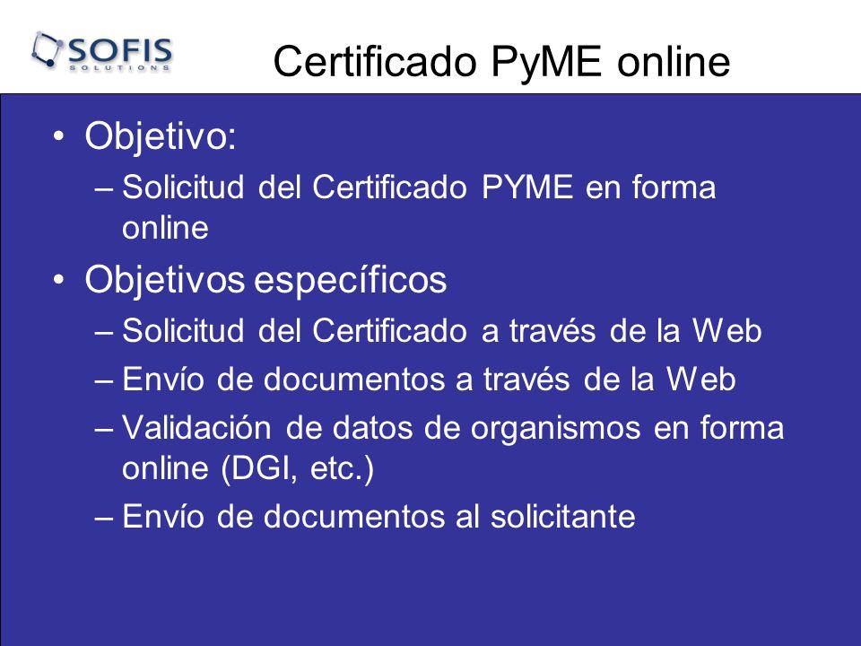 Certificado PyME online